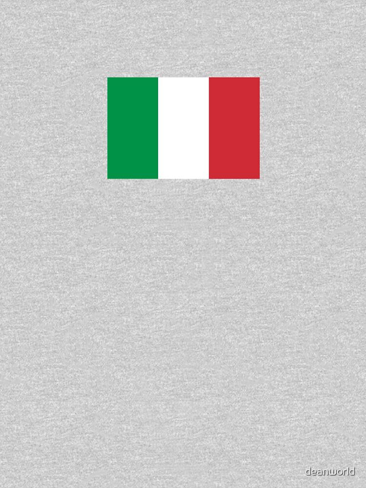 Italy Flag - Italian T-Shirt by deanworld