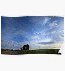 The Lonely Barn ..Against a big sky... Poster