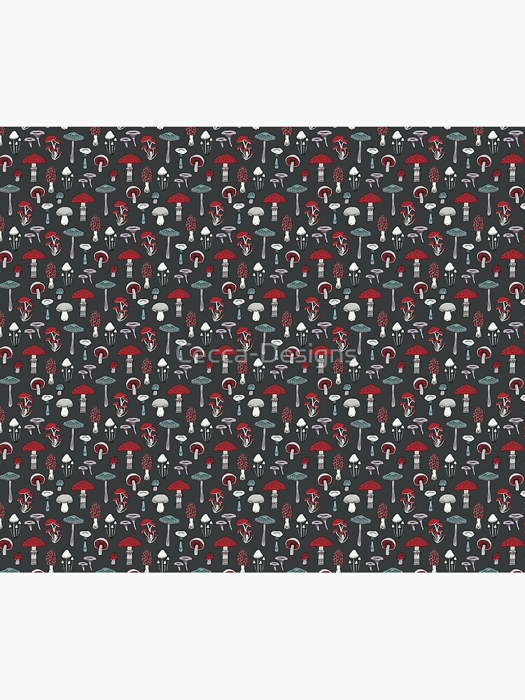 Midnight Mushrooms - fun fungus pattern by Cecca Designs by Cecca-Designs