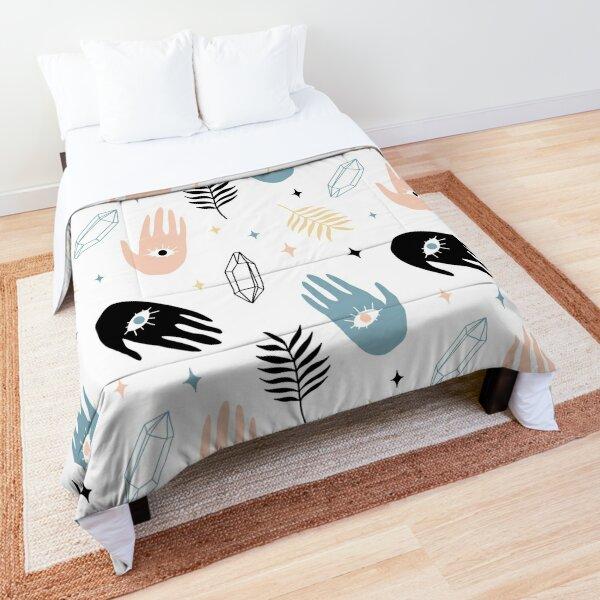 Third Eye Hand Palm Magic Witch Hamsa Pattern   Comforter