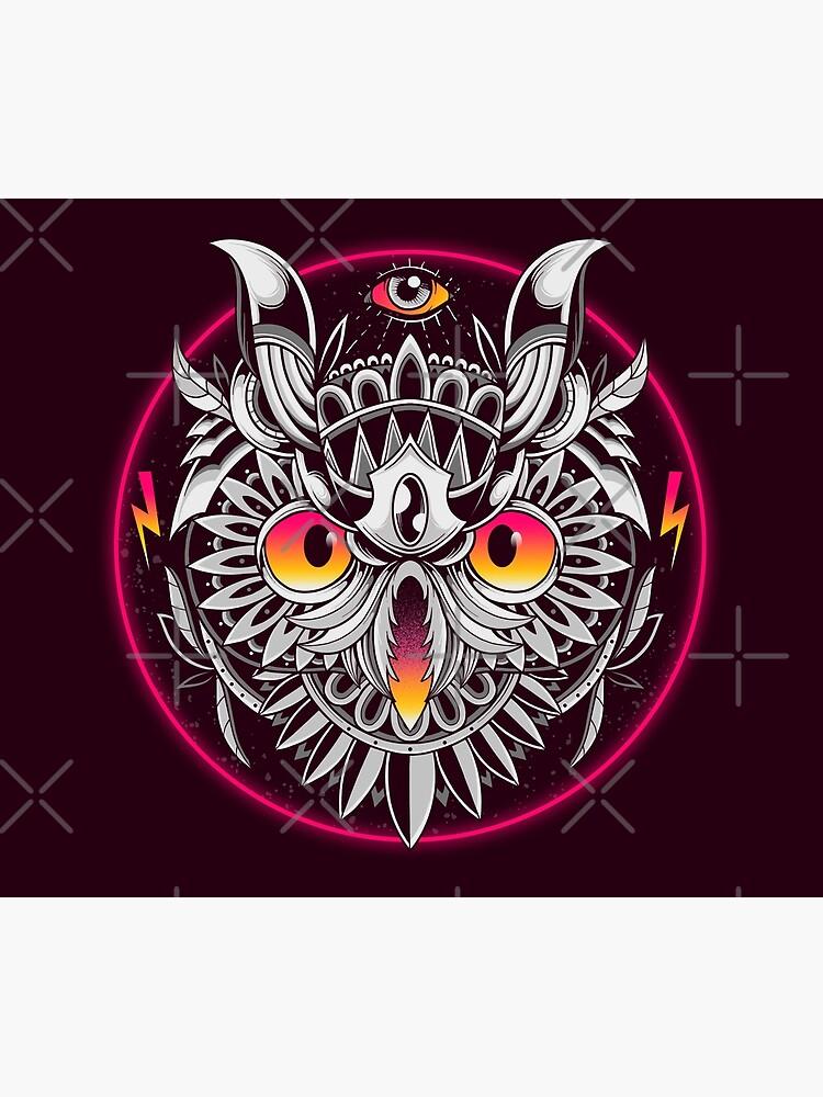 Retrowave Owl by GODZILLARGE