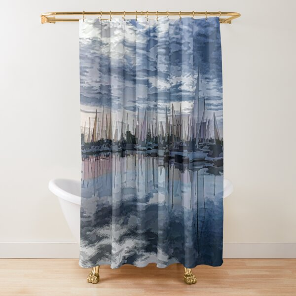 Sailboat Summer Impressions Shower Curtain