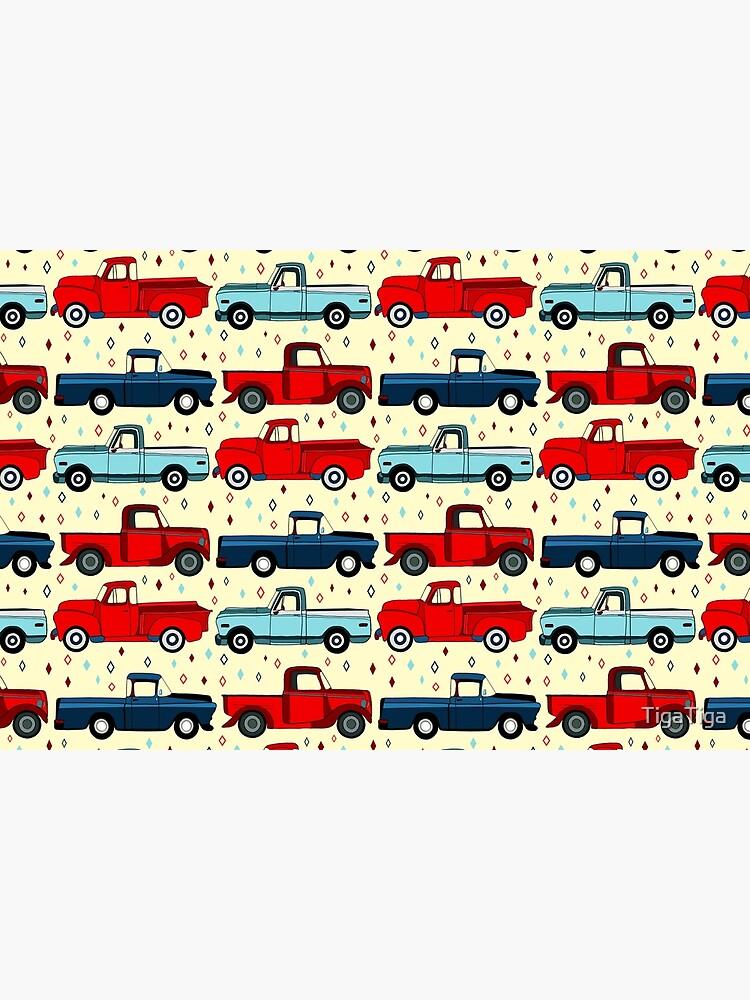 Winter Vintage Trucks  by TigaTiga