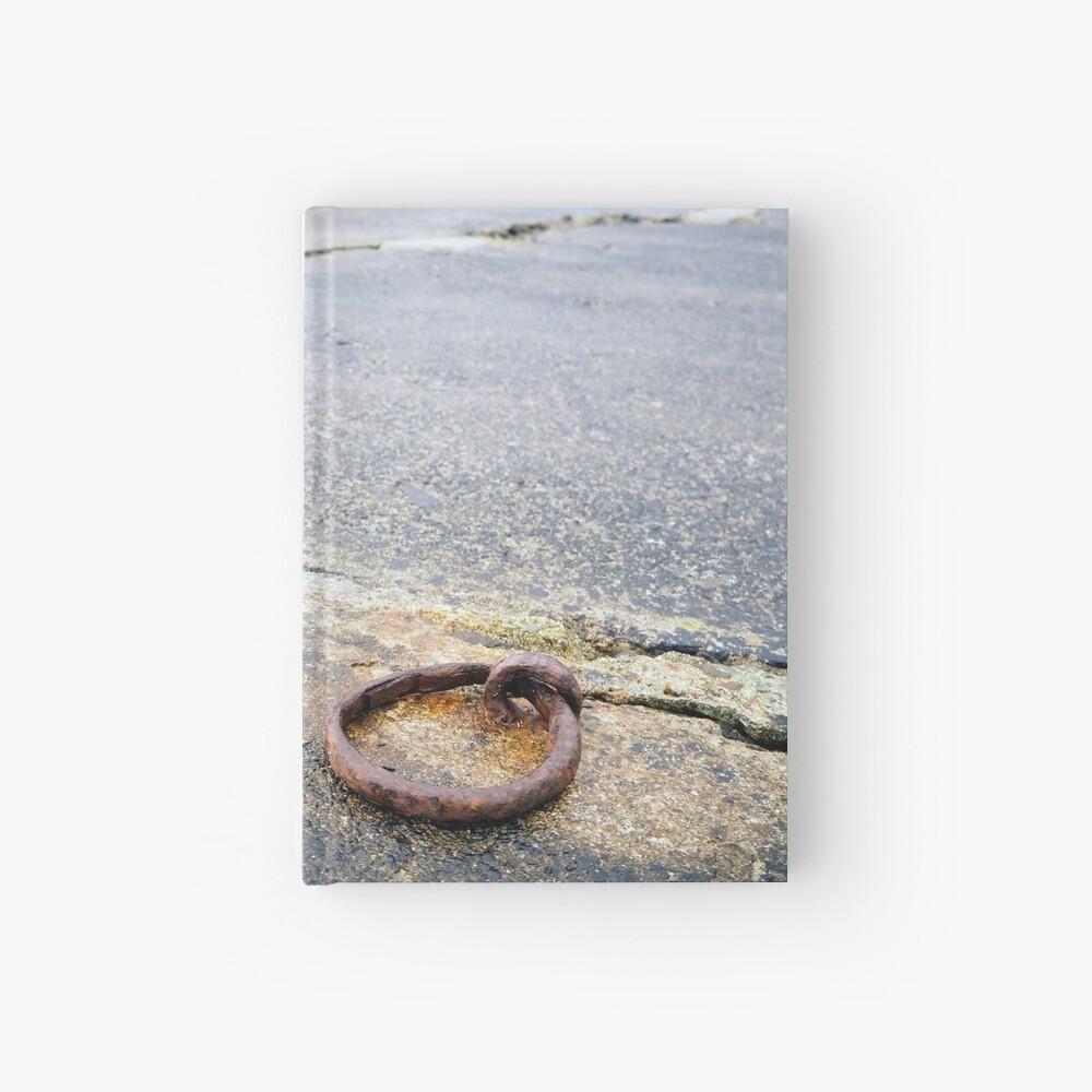 mooring on a deserted wharf Hardcover Journal