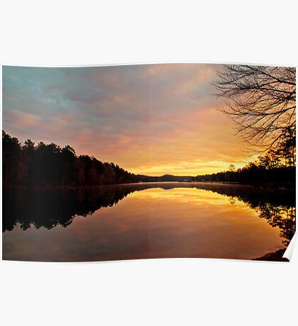 Oak Mountain Sunrise Poster