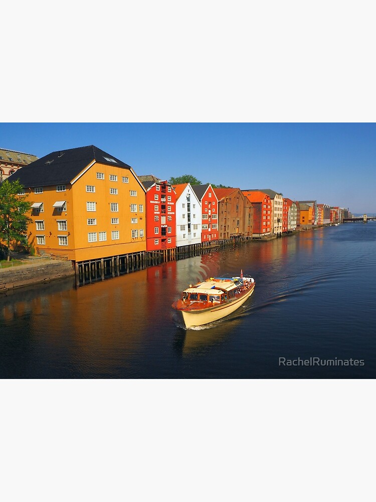 Colorful Trondheim, Norway by RachelRuminates