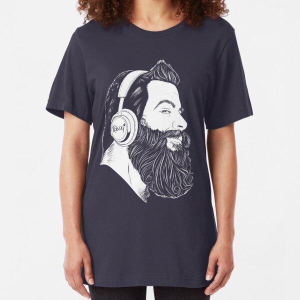 BearBull - White lines Slim Fit T-Shirt