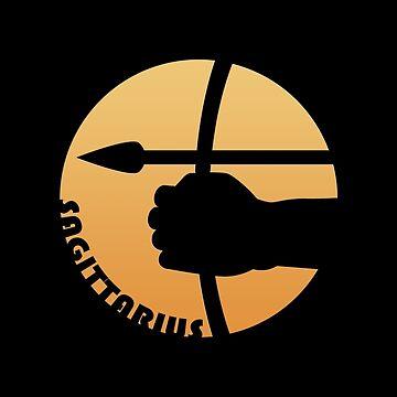 Sagittarius Zodiac Sign by peculiardesign
