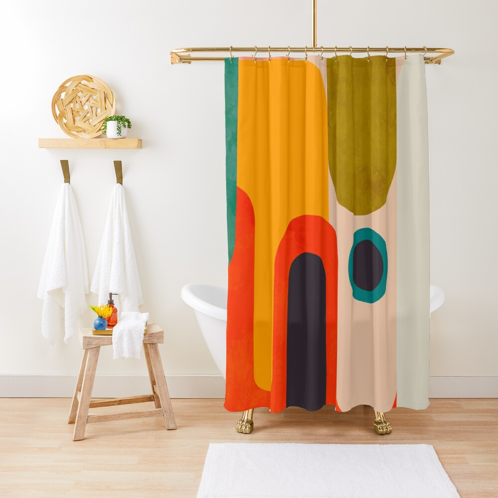 Geometric shapes abstract 8 Shower Curtain