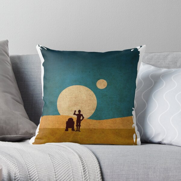 Droids In The Dunes Throw Pillow