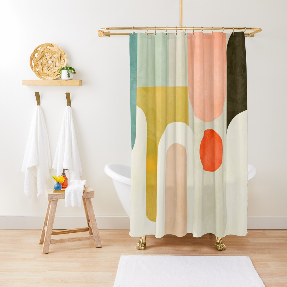 Geometry shapes abstract 9 Shower Curtain