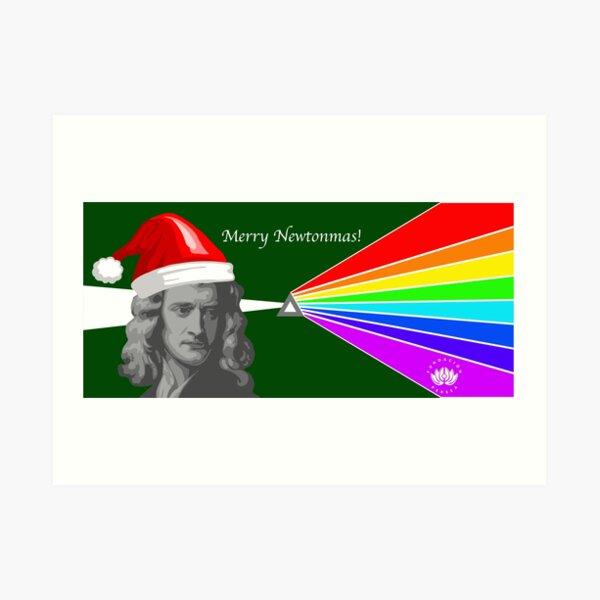 Merry Newtonmas Art Print