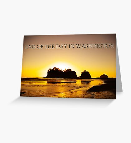 end of the day, james island, wa, usa Greeting Card