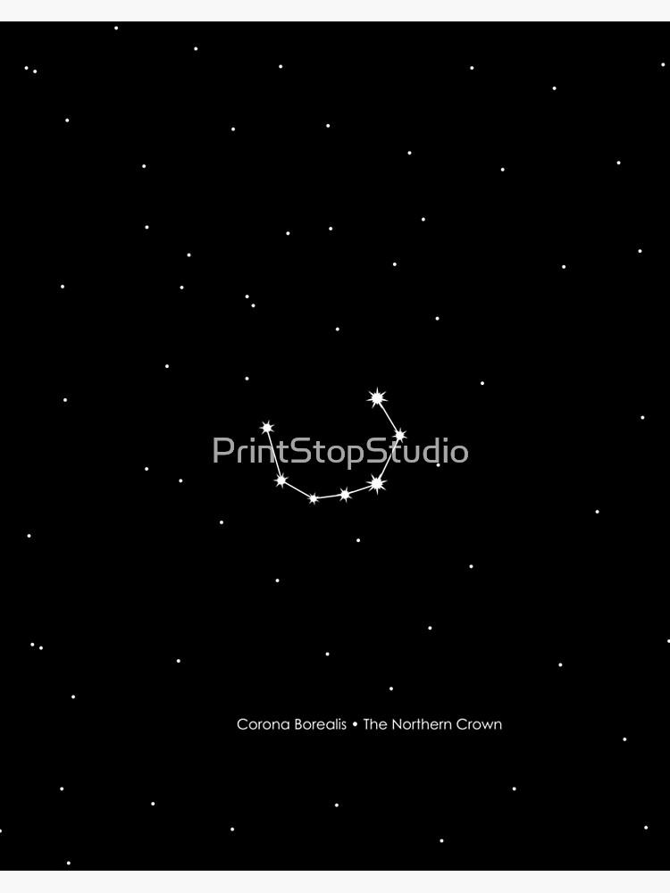 Corona Borealis Constellation Art Board Print By Printstopstudio Redbubble