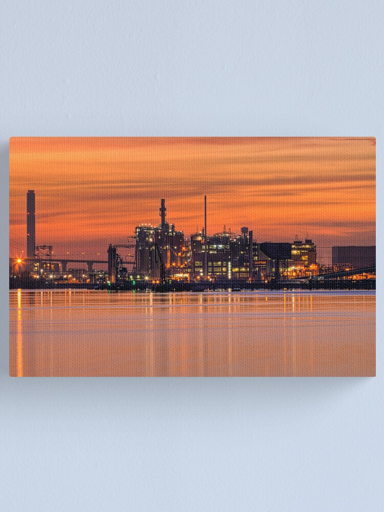 Alternate view of Industrial Sunset Canvas Print