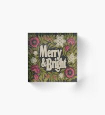 Merry and Bright Acrylic Block