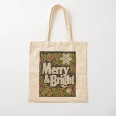Merry and Bright Cotton Tote Bag