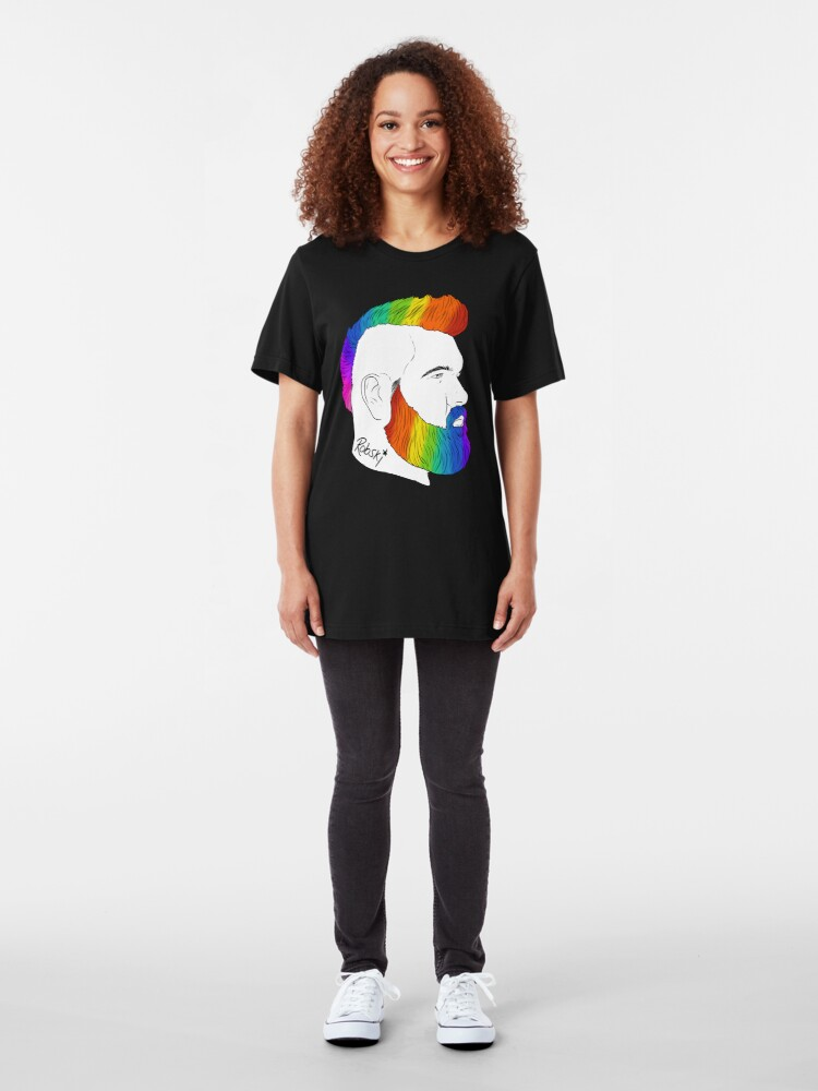 Alternate view of BeefCakeBoss - PRIDE edition Slim Fit T-Shirt