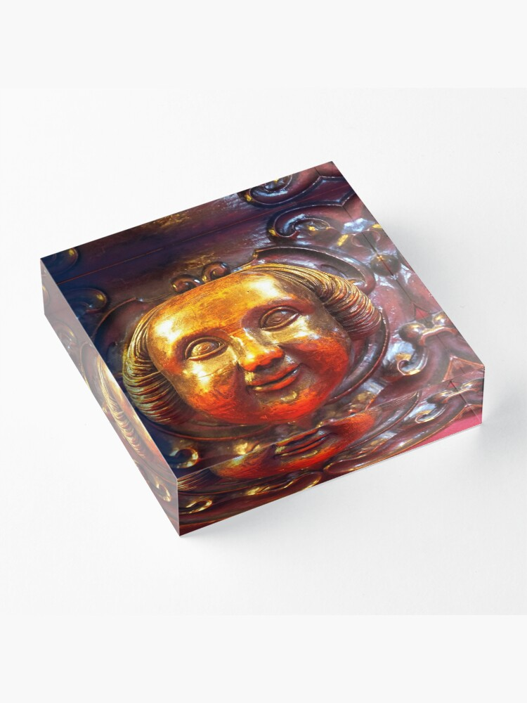 Alternate view of a smiling face Acrylic Block