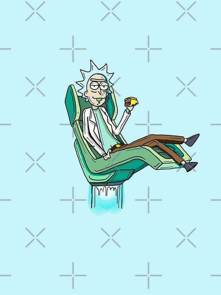 Rick Sanchez from Rick and Morty™ Hover Chair from Season 4 by sketchNkustom