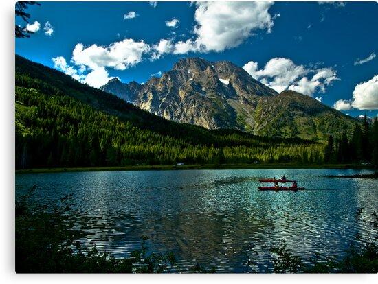 Leigh Lake, Teton National Forest, Wyoming by ayresphoto