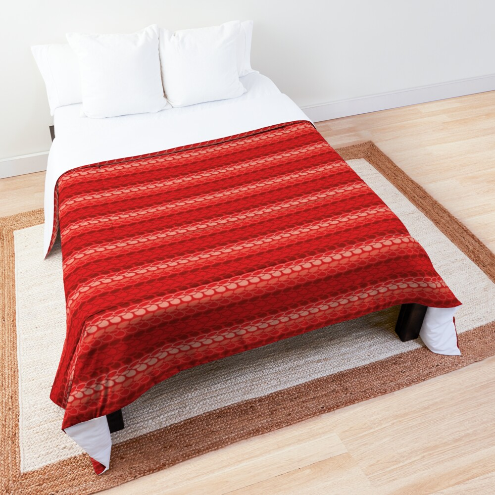 Faux slip stitch crochet pattern with red hues Comforter