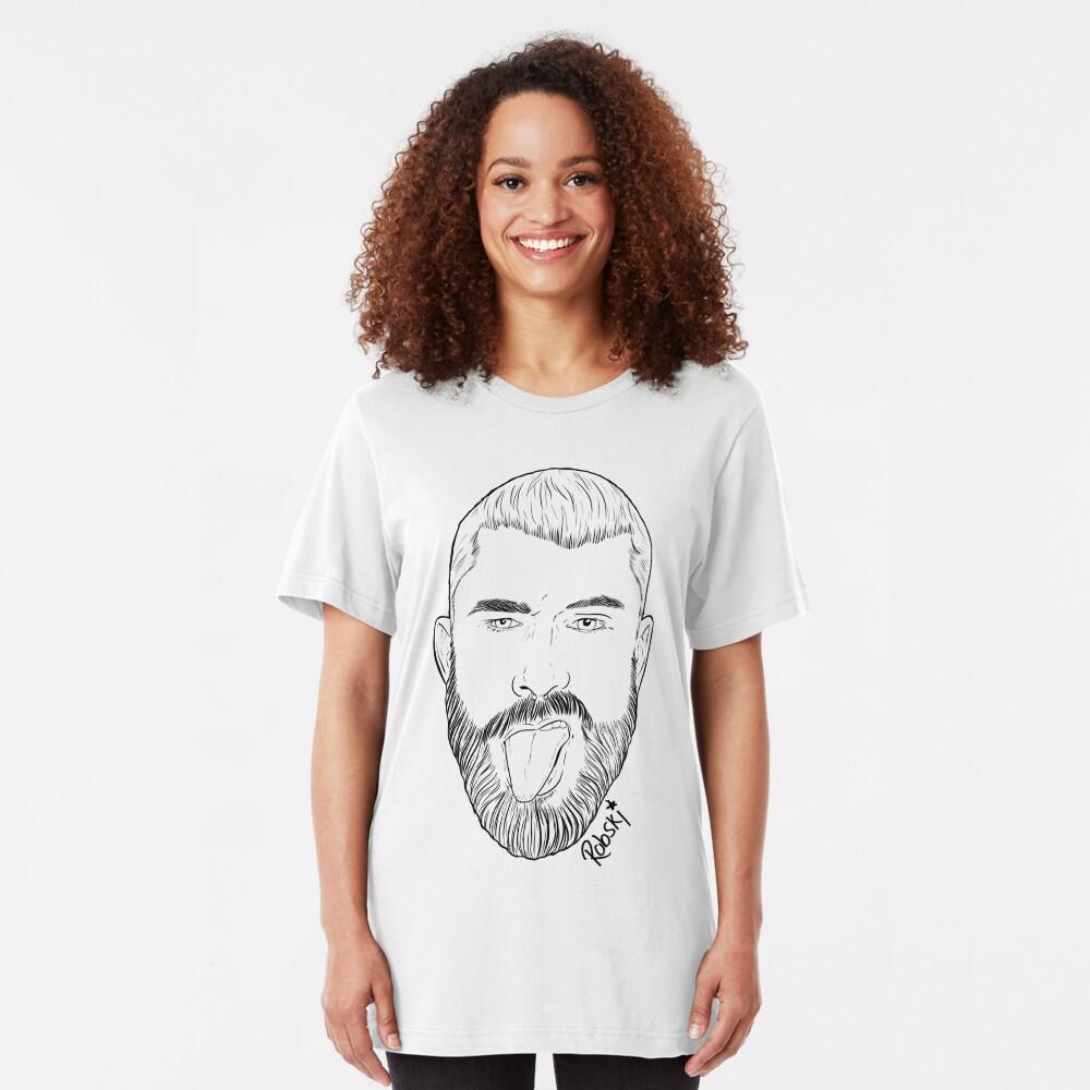 Scott Humpreys- Black lines Slim Fit T-Shirt