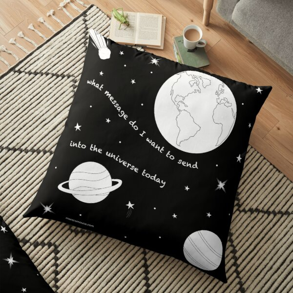 MantraMouse® Universe Message Cartoon Floor Pillow