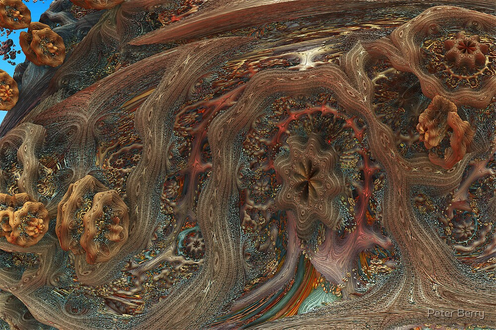 Mandelbulb Seed Pod by Peter Berry
