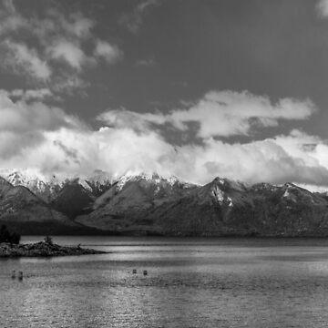 Lake Nahuel Huapi, Patagonia, Argentina (Black & white) by MathieuLongvert