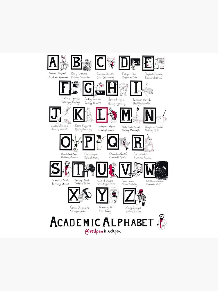 The Academic Alphabet by redpenblackpen