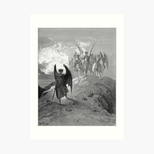Satan cast out of Heaven Art Print