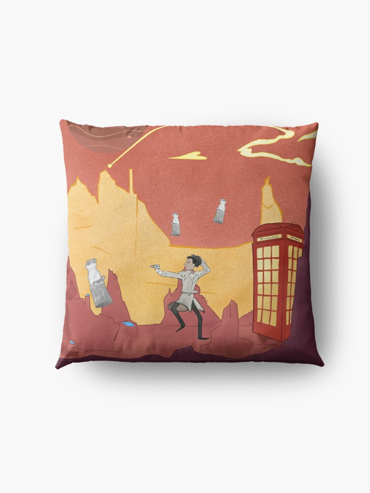 Alternate view of Inspector spacetime, Abed Community Adventure Floor Pillow
