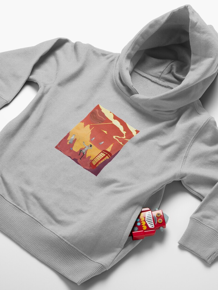 Alternate view of Inspector spacetime, Abed Community Adventure Toddler Pullover Hoodie