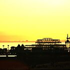 Brighton Piers_Towards Sunset by Clive Reedman