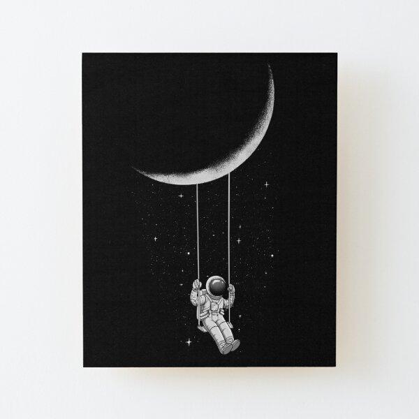 Moon Swing Wood Mounted Print