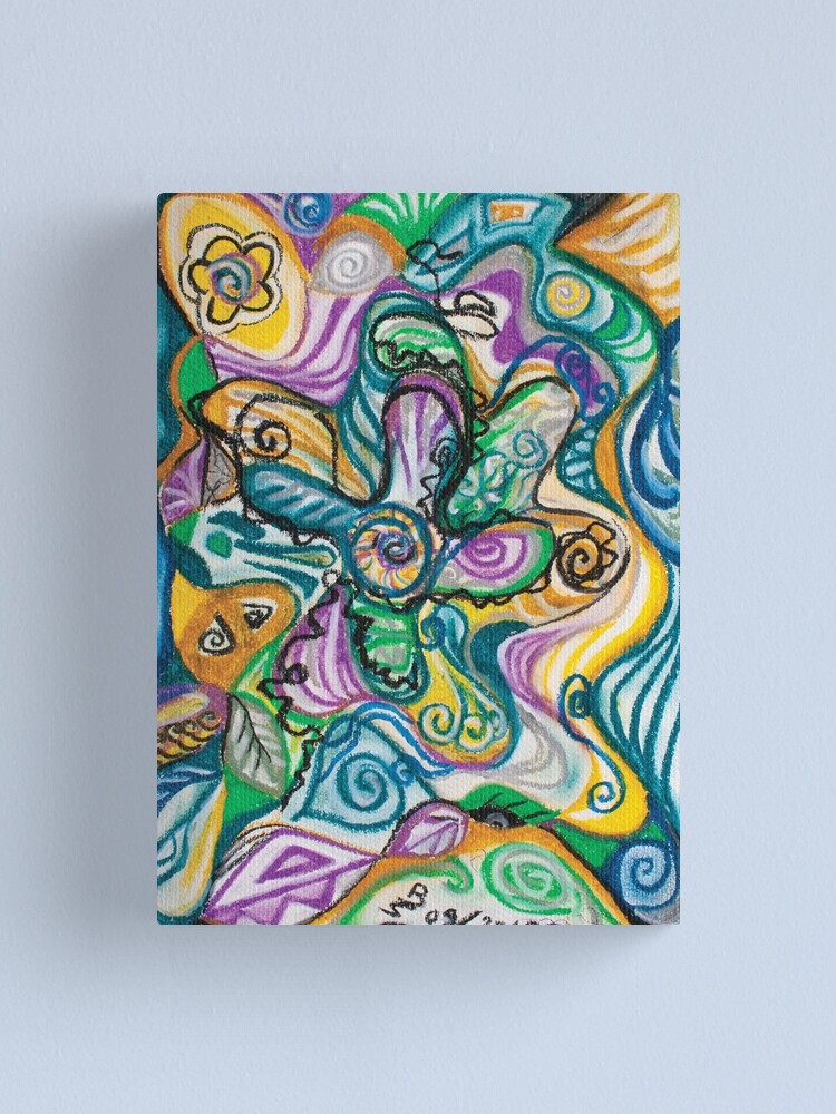 Alternate view of multicolored abstract composition Canvas Print