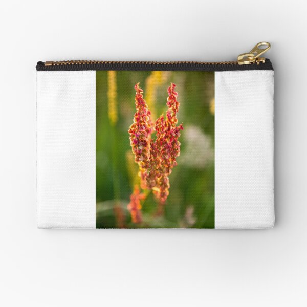 Wild pink flowers from Meadow flower collection  Zipper Pouch
