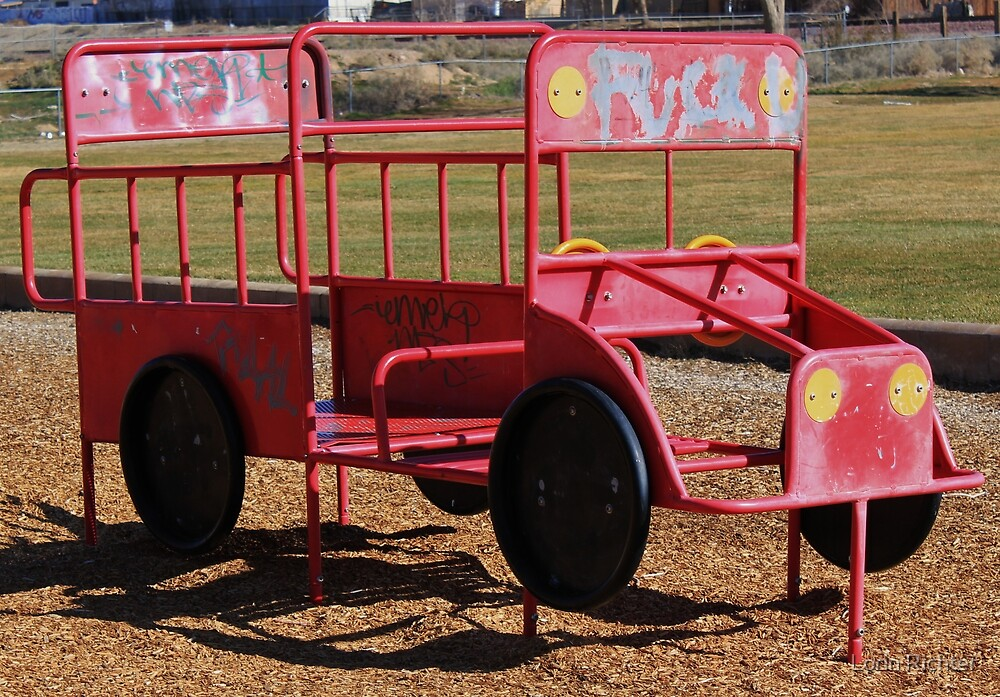 a childs fire engine by Lorin Richter