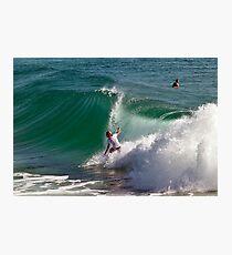 Pre-Quiksilver surfing Photographic Print