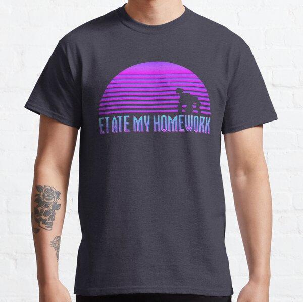 ET Ate my Homework (Vaporwave) Classic T-Shirt