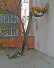 Memorial, Jewish Quarter, Budapest, Hungary by Margaret  Hyde