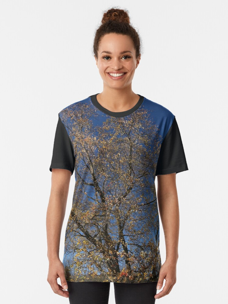 Alternate view of Autumn Tree of New York State Graphic T-Shirt
