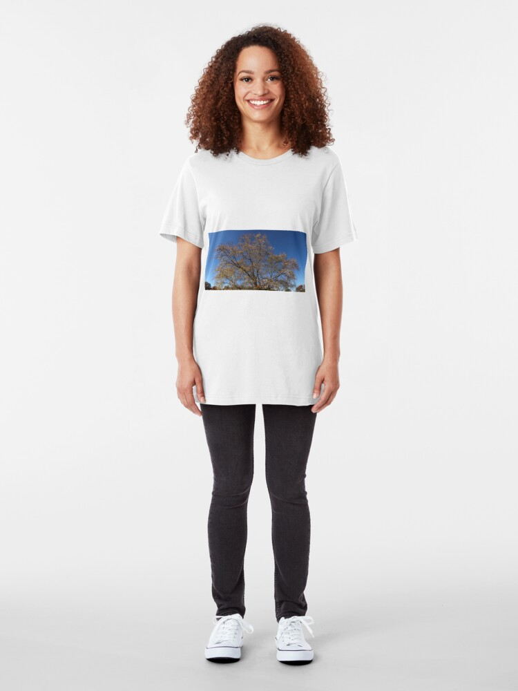 Alternate view of Autumn Tree of New York State Slim Fit T-Shirt