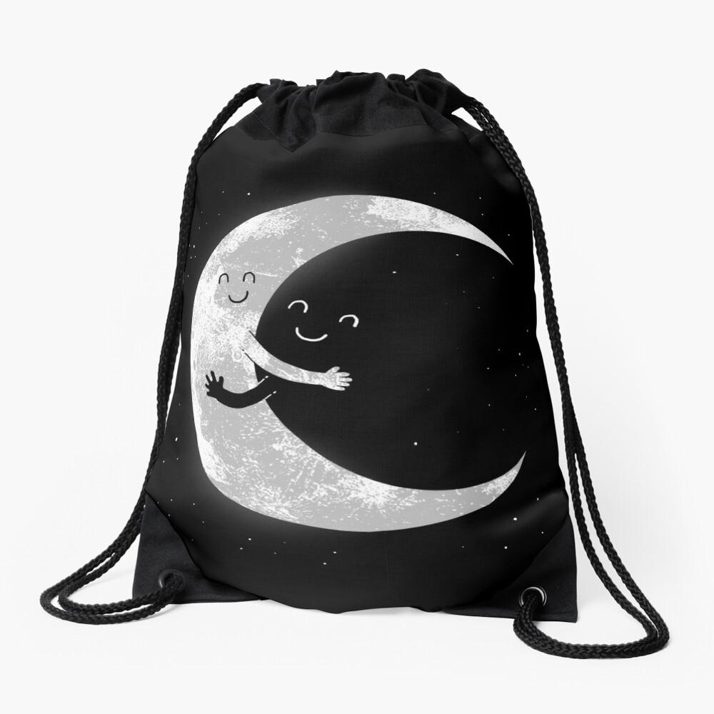 Moon Hug Drawstring Bag