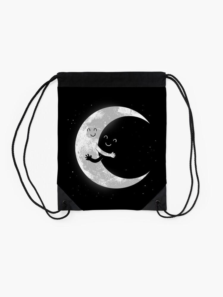 Alternate view of Moon Hug Drawstring Bag