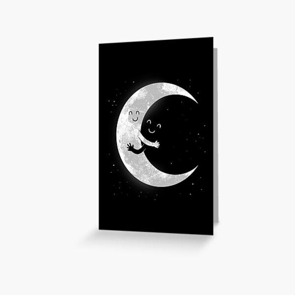 Moon Hug Greeting Card