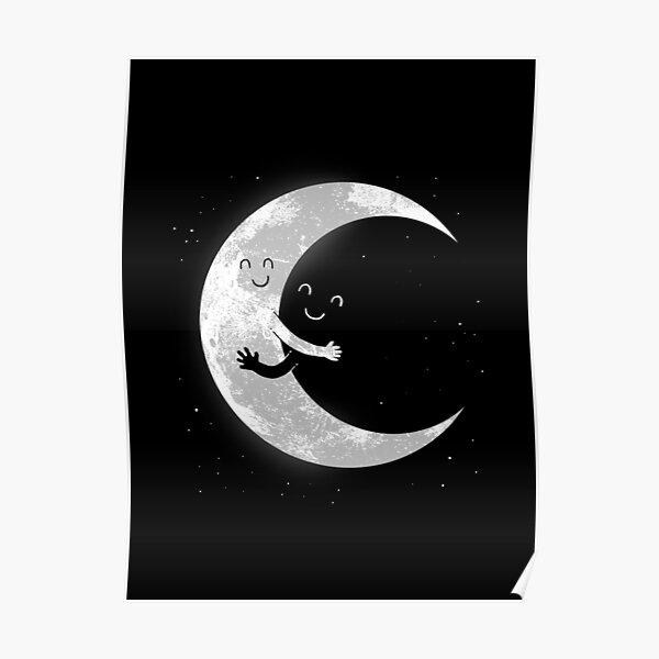 Moon Hug Poster