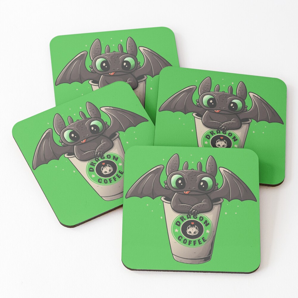 Dragon Coffee Coasters (Set of 4)
