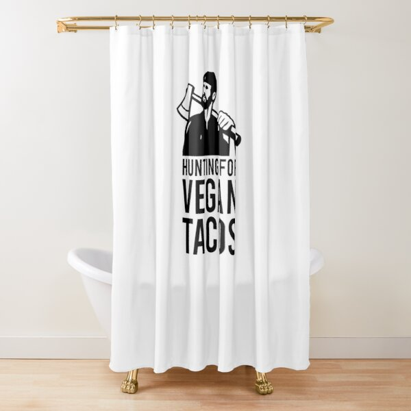 Hunting for Vegan Tacos Shower Curtain